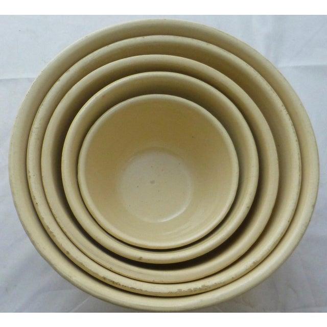 Antique Watt Nesting Mixing Bowls - Set of 5 - Image 7 of 9