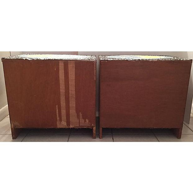 1970's Mosaic Top Nightstands - A Pair - Image 10 of 10
