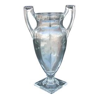 Vintage Urn Shaped Glass Vase