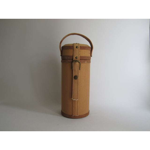 Image of Tweed And Suede Wine Carrier