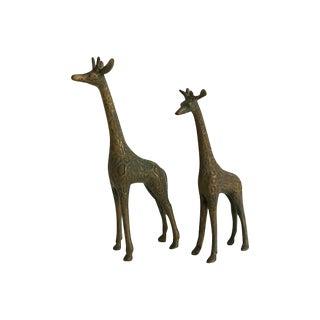 1950s Brass Giraffes - A Pair
