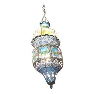 Vintage Tunisian Enameled Lantern