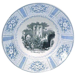 Vintage English Transferware Castle Scene Plate