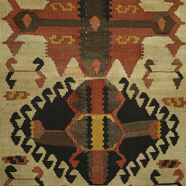Vintage Turkish Kilim Kars Runner - 2'8 X 13'9 - Image 3 of 3