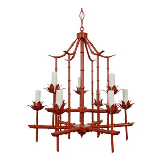 Faux Bamboo Pagoda Chandelier