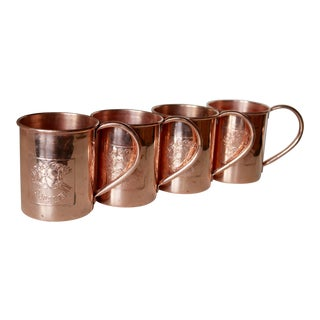 Vintage Copper Extra Large Moscow Mule Mugs - Set of 4