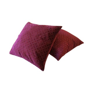 Osborne & Little Velvet Pillows - Pair