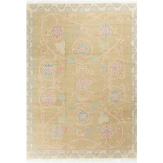 Modern Contemporary Hand Knotted Wool Rug - 8′11″ × 11′10″
