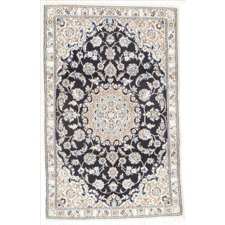 "Persian Nain Silk & Wool Rug - 2'10"" x 4'7"""
