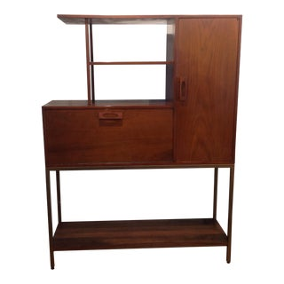 Vintage Mid-Century Drop-Down Bar Cabinet