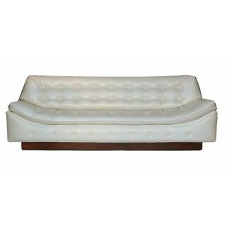 Milo Baughman Style Tufted Mid-Century Sofa