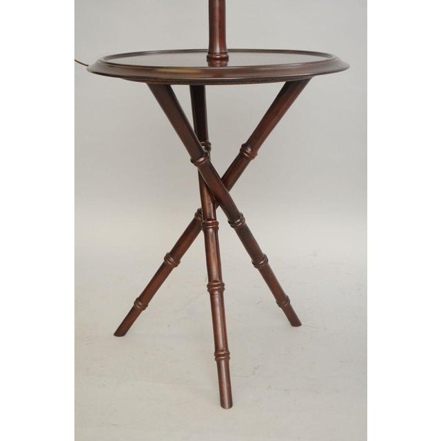Chinese Chippendale Faux Bamboo Lamp Tables - A Pair - Image 10 of 11