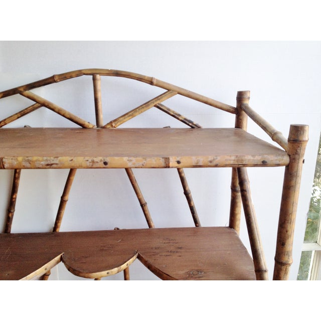 Image of AntiqueTortoise Bamboo Display Shelf Bookcase