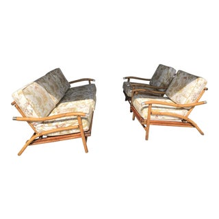 Bamboo Sofa & Chairs - Set of 3