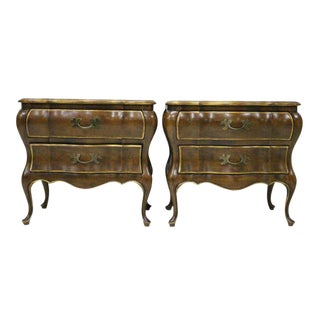 French Provincial Bombay Nightstands - A Pair