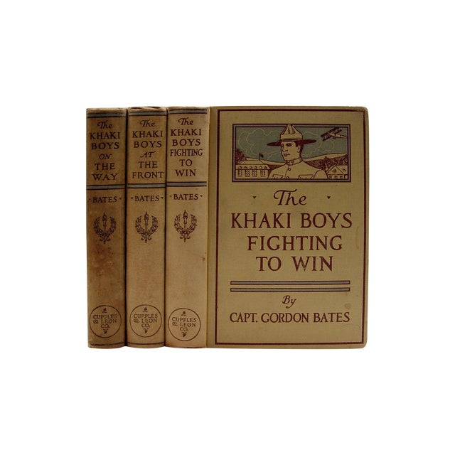 The Khaki Boys WWI Adventure 1910 Book- Set of 3 - Image 1 of 3