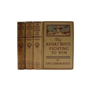 The Khaki Boys WWI Adventure 1910 Book- Set of 3