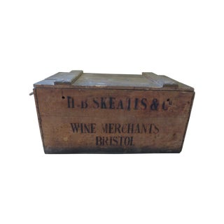 Vintage English Wooden Wine Crate