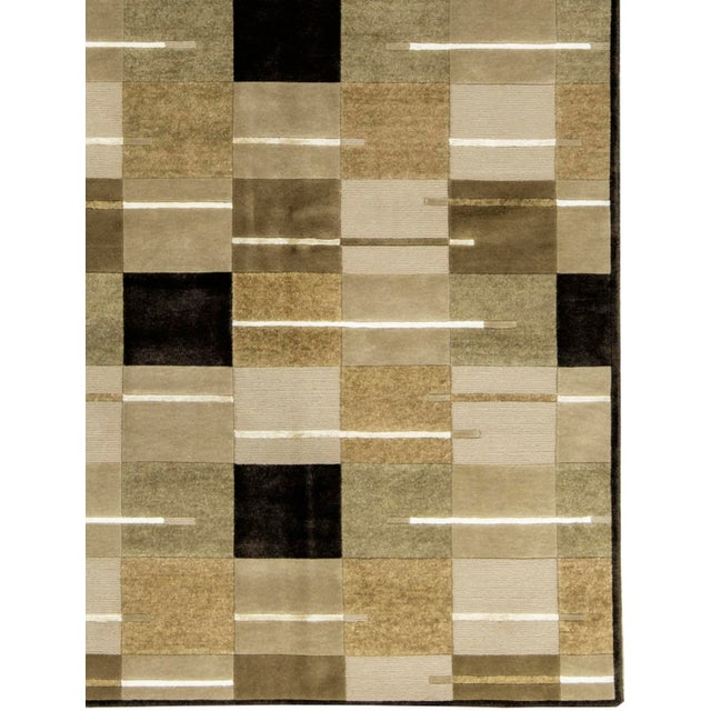 """Contemporary Hand Woven Rug - 5'8"""" x 8' - Image 3 of 3"""