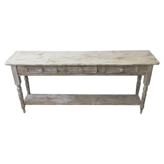 Shabby Chic Pine Console