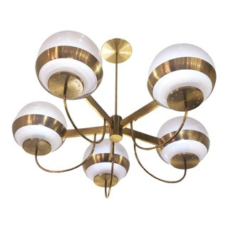 Brass Chandelier by Lamperti, Italy, 1960s