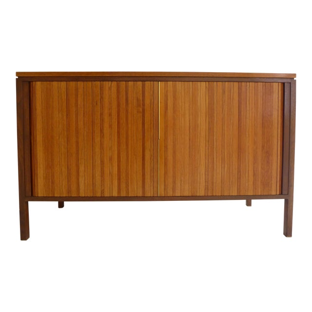 Image of Tambour Front Cabinet by Edward Wormley