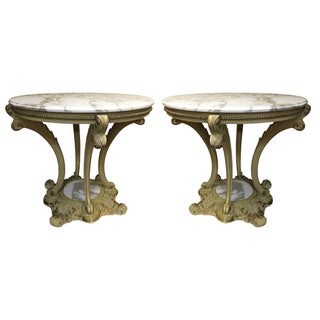 Baroque Style Side Tables - A Pair