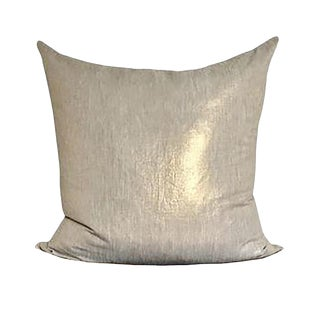 Gold Linen Pillow
