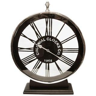Large Black and Chrome Clock