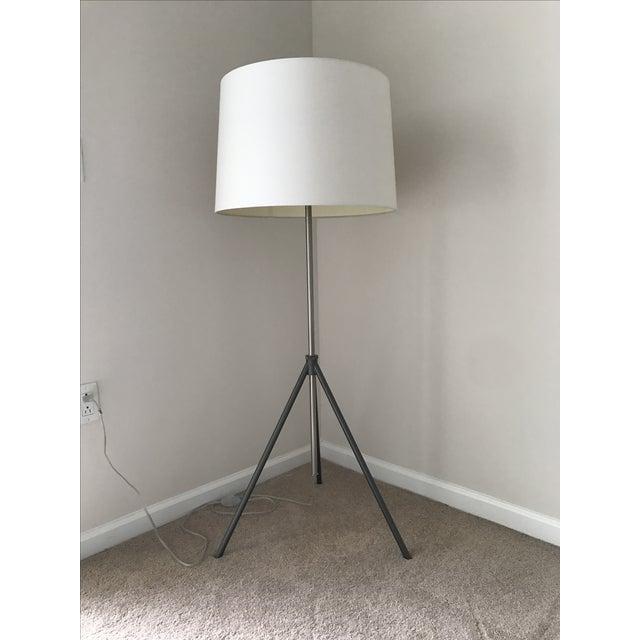 Cb2 saturday floor lamp chairish for Cb2 disk floor lamp