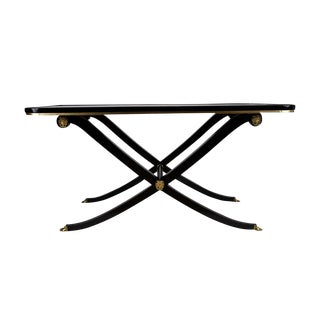 French Empire Style Ebonized Mahogany Coffee Table