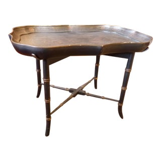 Bombay & Co Black Chinoiserie Toile Tray Table
