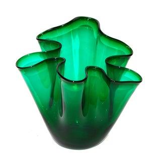 Venini Style Handkerchief Vase