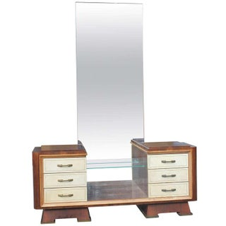 French Art Deco Palisander with Parchment Vanity