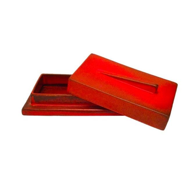 Burnt Orange German Bauhaus Lidded Box - Image 1 of 3