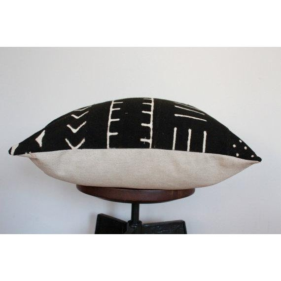 Black and White African Mud Cloth Pillow - Image 3 of 5