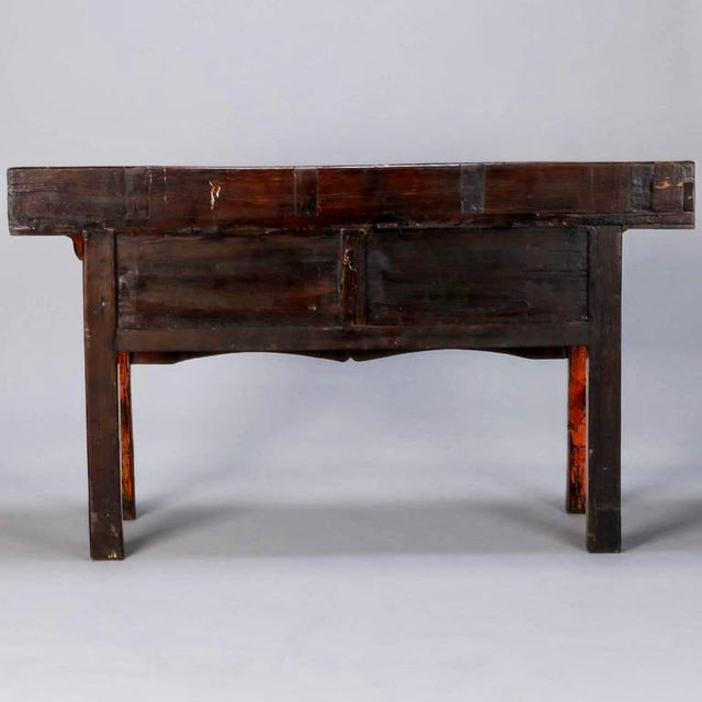 Chinese Painted and Lacquered Three-Drawer Console Table - Image 9 of 11