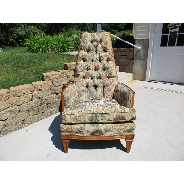 Tufted High Back Armchair - Image 7 of 11
