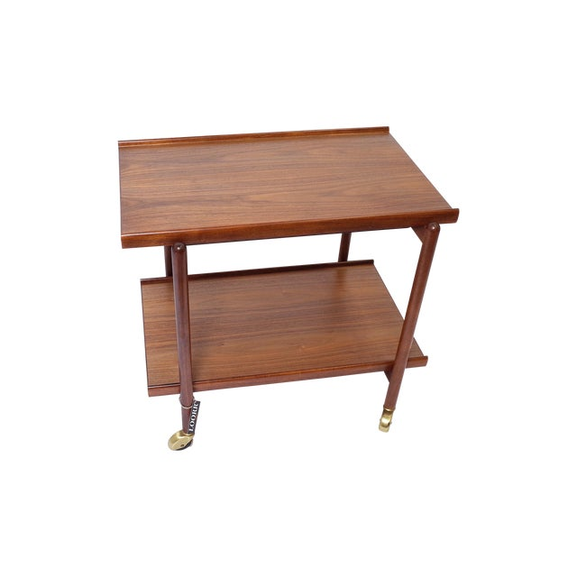 Poul Hundevad Danish Modern Teak Bar Cart - Image 1 of 6