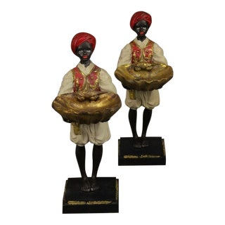Hollywood Regency Blackamoor Figures Figurines Sculpt