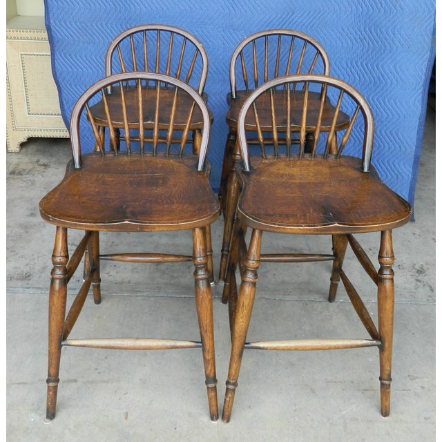Windsor Style Counter Stools - Set of 4 - Image 3 of 7
