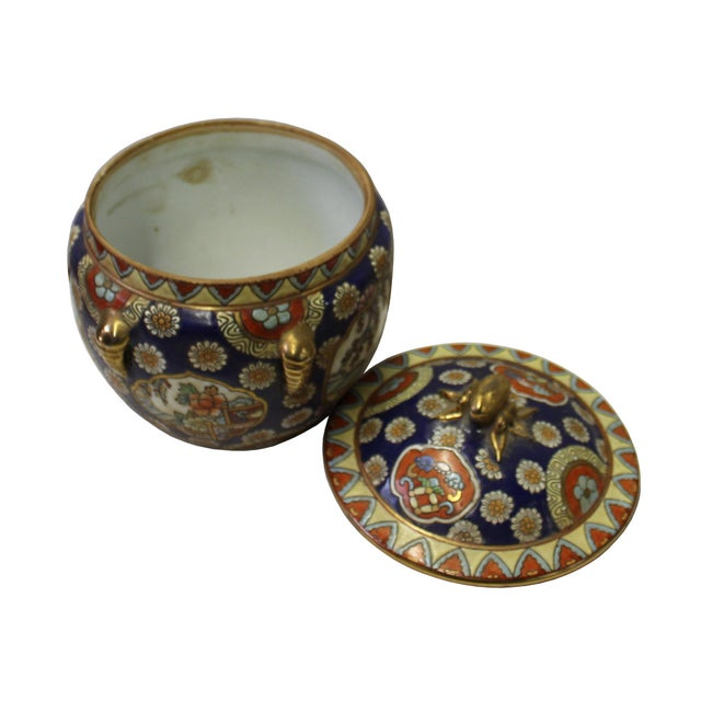 Chinese Oriental Porcelain Flower Scenery Container Box - Image 4 of 6
