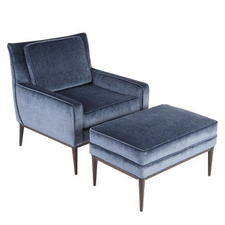 PAUL MCCOBB LOUNGE CHAIR AND OTTOMAN, CIRCA 1950S