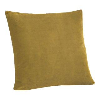 Mustard Velvet Down Pillow