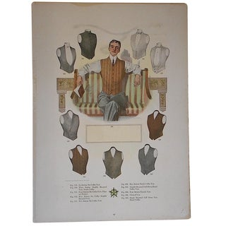 """Antique """"Well Dressed Men"""" Lithograph"""