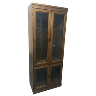 Hollywood Regency Wood Wall Unit