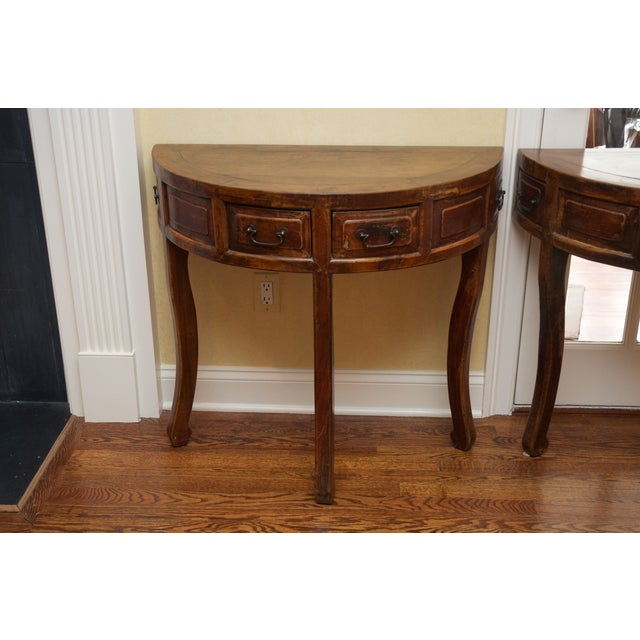 Demi Lune Tables or Round Accent Table - Set of 2 - Image 5 of 8