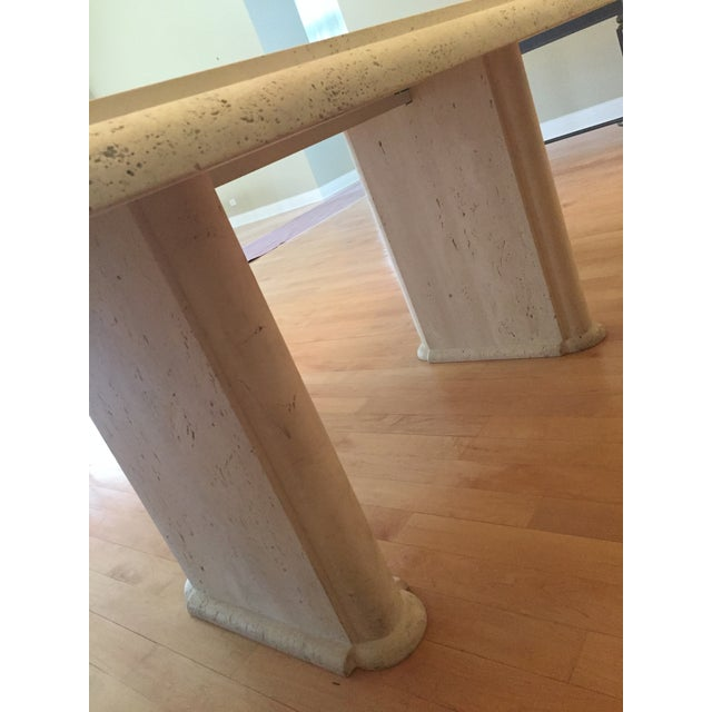 Kreiss Travertine Dining Table - Image 5 of 11