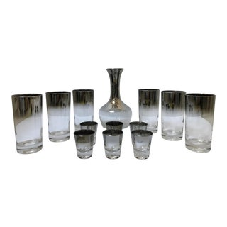 Dorothy Thorpe Style Glasses, Decanter & Shot Glasses - Set of 13