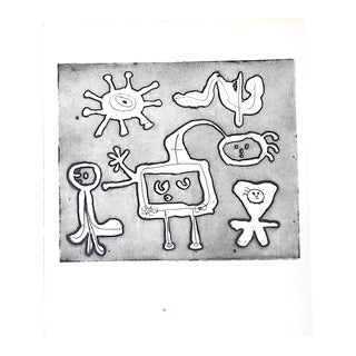 Vintage Abstract Joan Miro Lithograph
